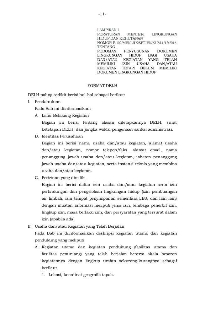 P102 Pedoman Penyusunan Dokumen Lingkungan Hidup Bagi Usaha
