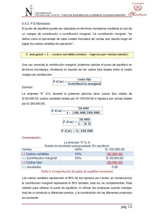 ... Tabla 3  Comprobación del punto de equilibrio operativo  15. 806489f75c39