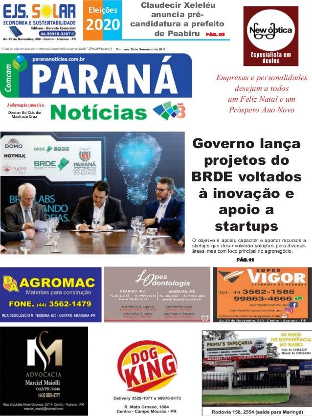 """Claudecir Xeleléu anuncia pré- candidatura a prefeito de Peabiru Eleições 2020 """"Oamigoamaemtodososmomentos;éumirmãonaadver..."""