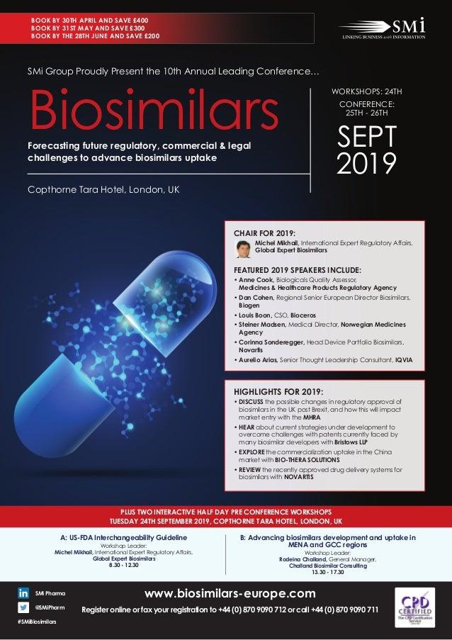 SMi Group's Biosimilars 2019 conference