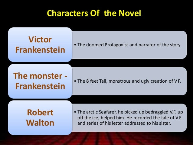 an examination of the character of robert walton as the narrator in the novel frankenstein by marry  Robert walton is a a professor b a at the end of frankenstein walton is the first narrator in frankenstein who are the other two a elizabeth and victor b.