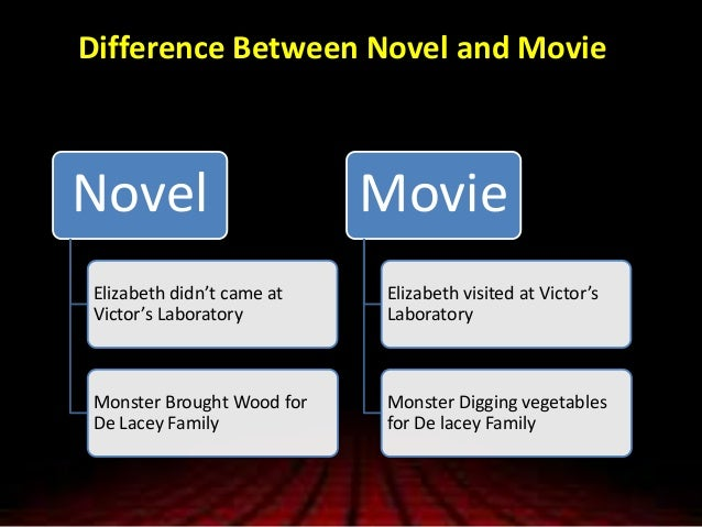 compare and contrast frankenstein the book and movie Compare and contrast : between the movie the island and the story frankenstein - essay example.