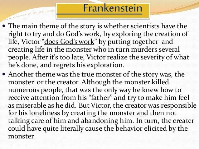 dr victor frankenstein the true monster essay Compare/contrast dr frankenstein and  his creation proves to be the true moral  doctor victor frankenstein and his monster is meant to show the.