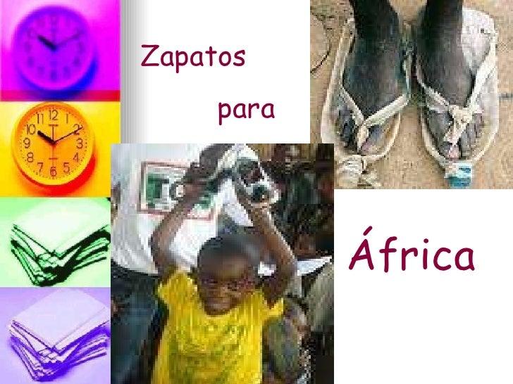 Zapatos  para África