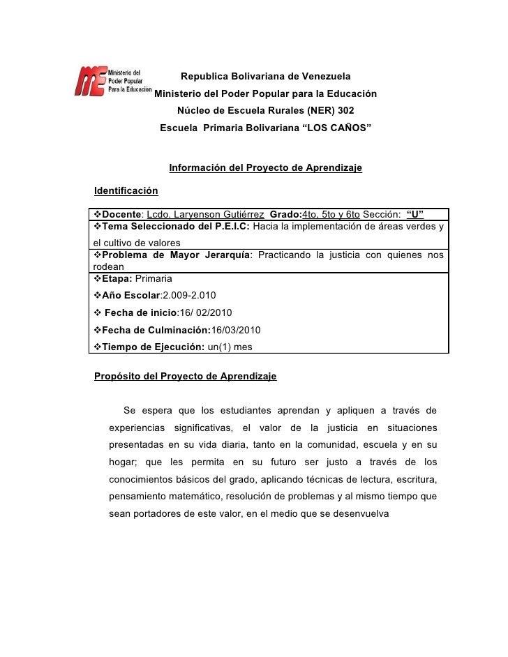 Republica Bolivariana de Venezuela              Ministerio del Poder Popular para la Educación                     Núcleo ...