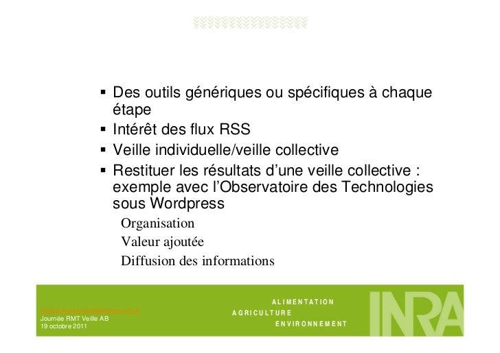 Outils de veille, capitalisation et diffusion Slide 2
