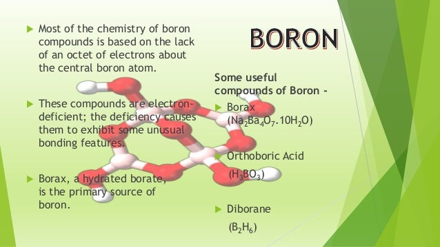 P-block elements (Properties of Boron)