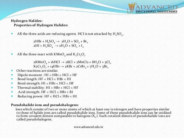 halide ions