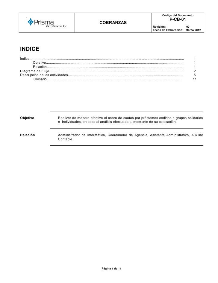Código del Documento      o                                                                                               ...