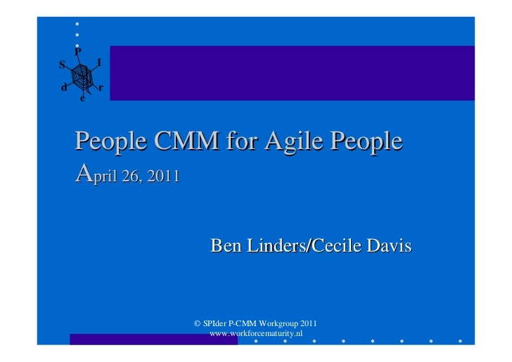 PS       Id       r    e    People CMM for Agile People    April 26, 2011                Ben Linders/Cecile Davis         ...