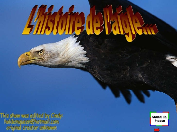 L'histoire de l'aigle… This show was edited by Cindy: [email_address] original creator unknown