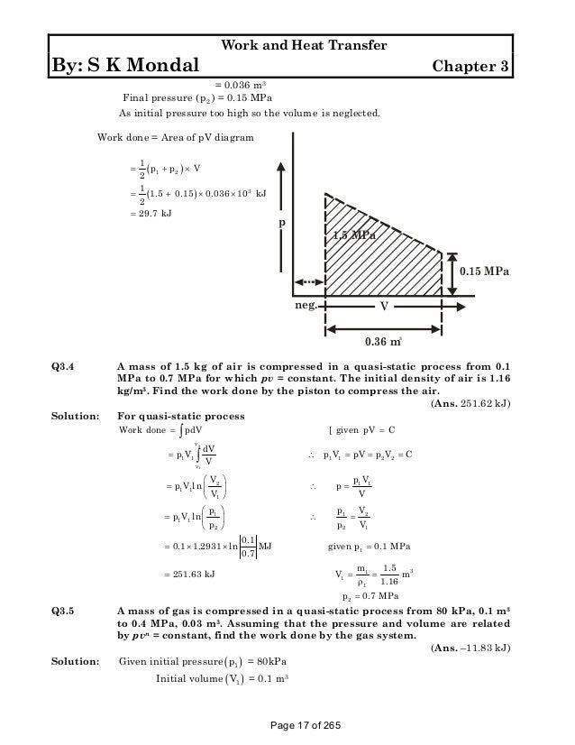 Solution Manual To Basic And Engineering Thermodynamics By