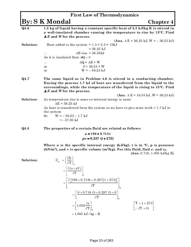 Solution manual to basic and engineering thermodynamics by p k nag 4t fandeluxe Choice Image