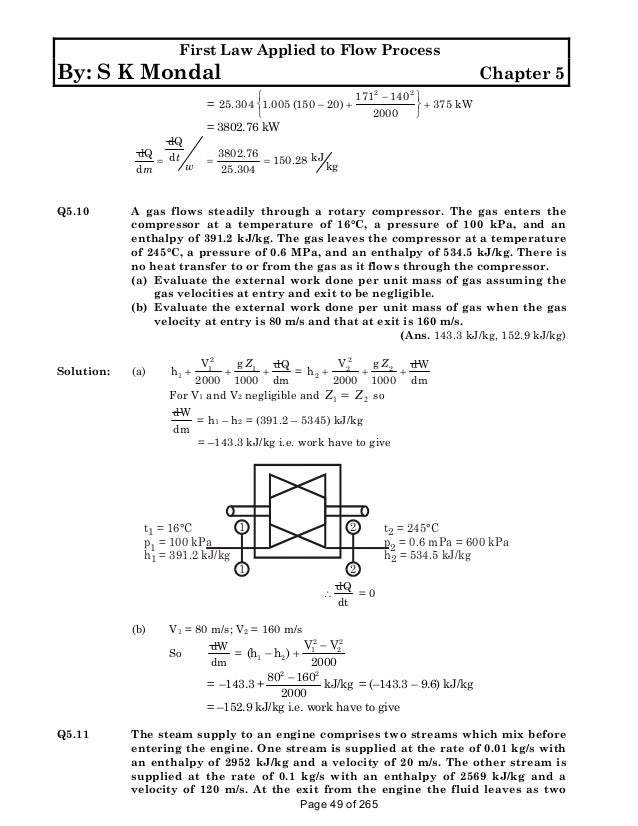 Solution manual to basic and engineering thermodynamics by p k nag 4t of 265 49 fandeluxe Images