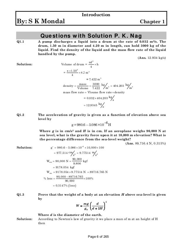 Solution manual to basic and engineering thermodynamics by p k nag 4t page 5 of 265 6 fandeluxe