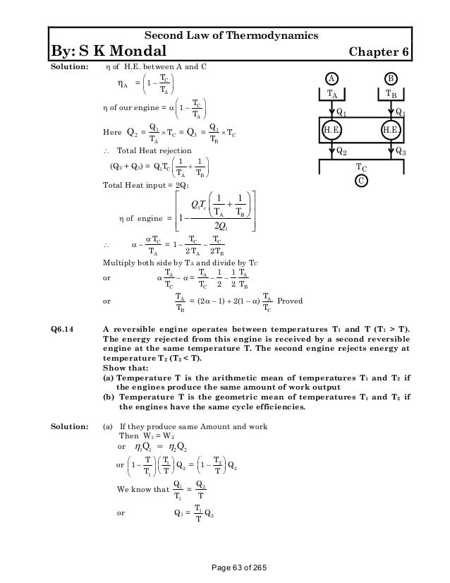 Solution manual to basic and engineering thermodynamics by p k nag 4t 63 second law of thermodynamics fandeluxe Images