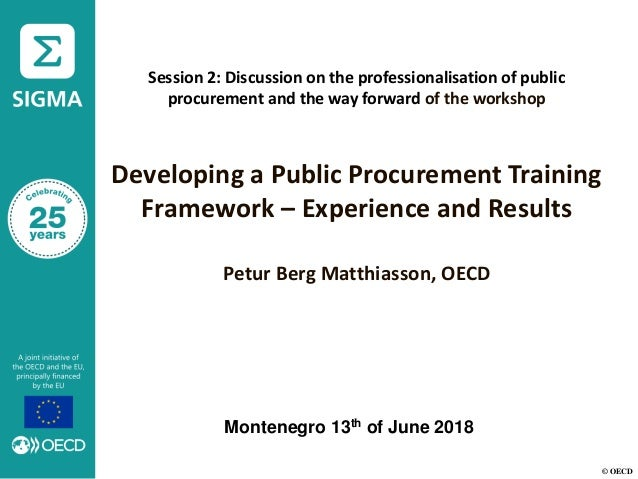 © OECD Session 2: Discussion on the professionalisation of public procurement and the way forward of the workshop Developi...