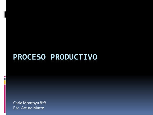 PROCESO PRODUCTIVO Carla Montoya 8ºB Esc .Arturo Matte