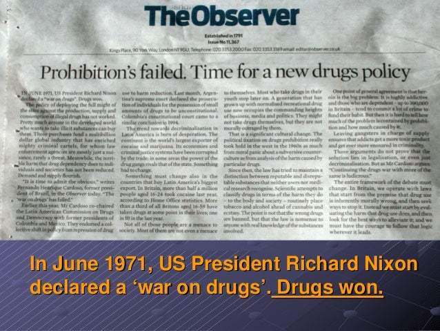 an analysis of the war on drugs and the role of president nixon The war on drugs: how president nixon tied addiction to crime  president richard nixon appointed stephen hess to the position of national chairman of the white house conference for children and .