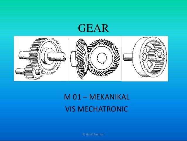 GEAR M 01 – MEKANIKAL VIS MECHATRONIC © Hanif Ammran