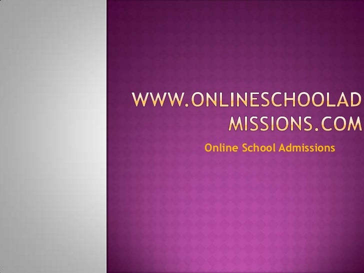 Online School Admissions