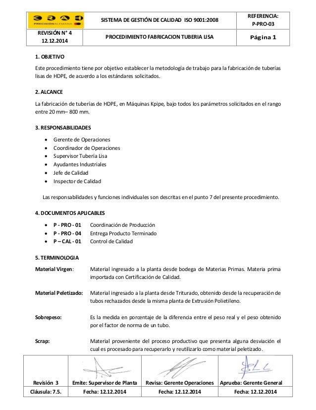 P-PRO-03 (4) fabricación tuberia lisa