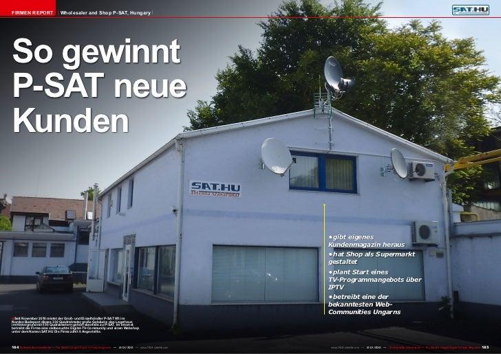 Firmen Report                       Wholesaler and Shop P-SAT, HungarySo gewinntP-SAT neueKunden                          ...