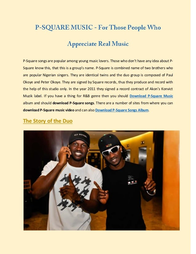 P square music - for those people who appreciate real music