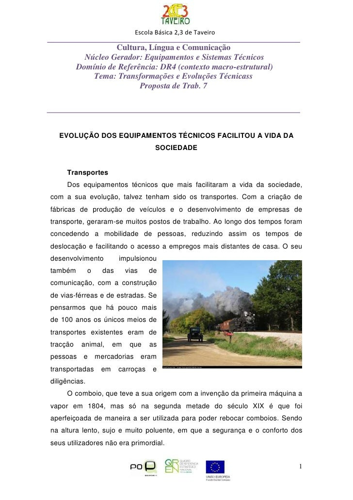 Escola Básica 2,3 de Taveiro                      Cultura, Língua e Comunicação             Núcleo Gerador: Equipamentos e...