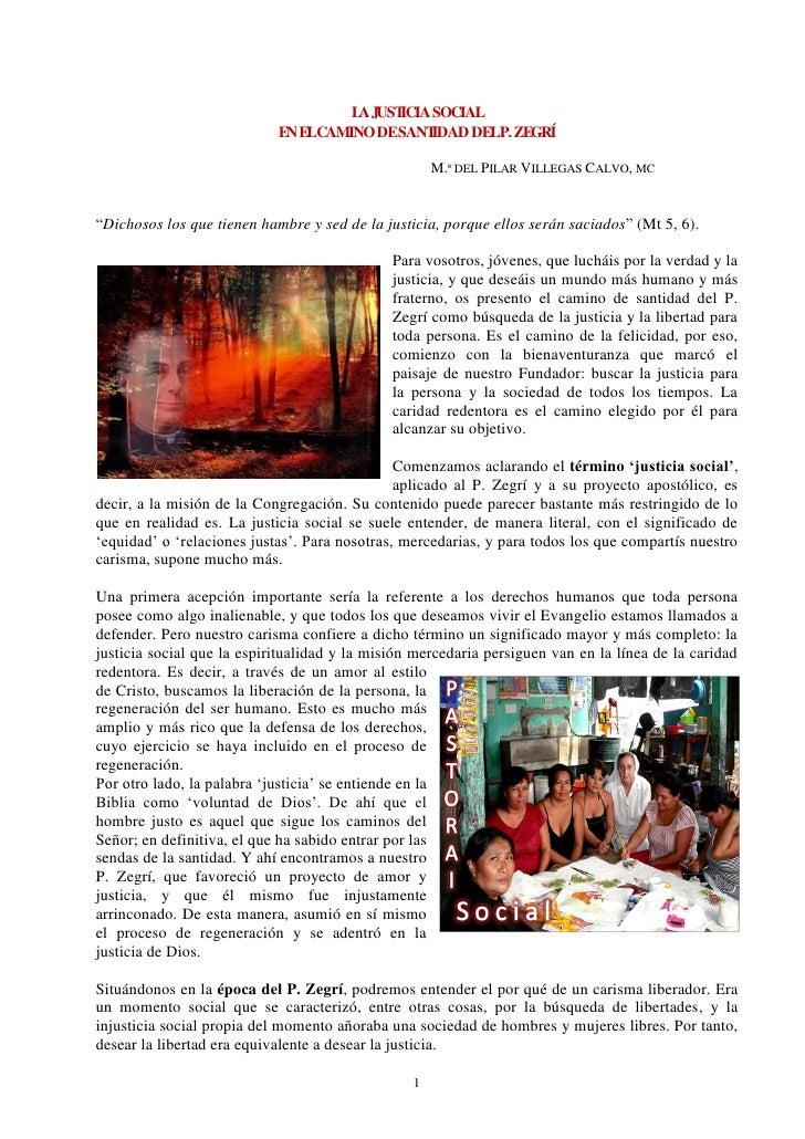 L JUST                                      A    ICIA SOCIAL                            EN ELCAMINO DESANT  IDAD DELP. ZEG...