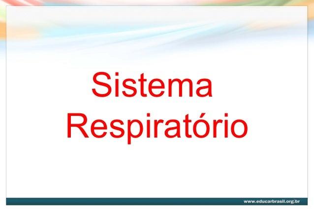 Sistema Respiratório 1