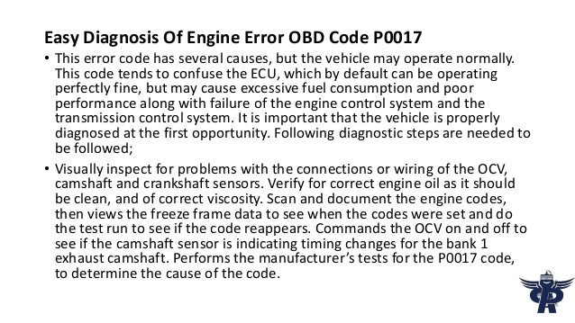 PartsAvatar Canada Provides You The Solution Of OBD Code P0017