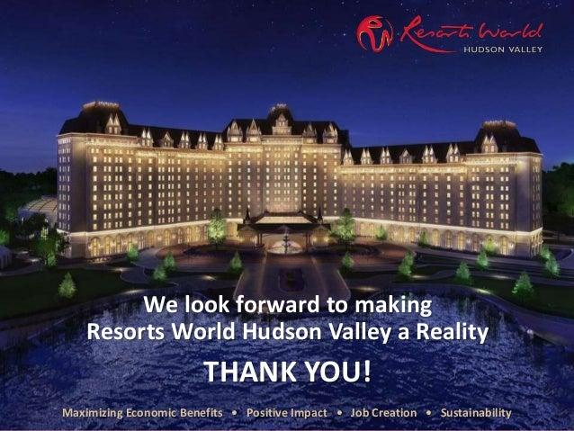 resorts world hudson valley presentation