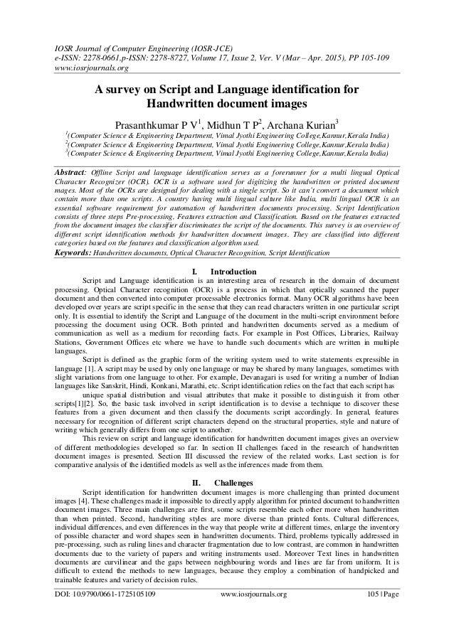 IOSR Journal of Computer Engineering (IOSR-JCE) e-ISSN: 2278-0661,p-ISSN: 2278-8727, Volume 17, Issue 2, Ver. V (Mar – Apr...