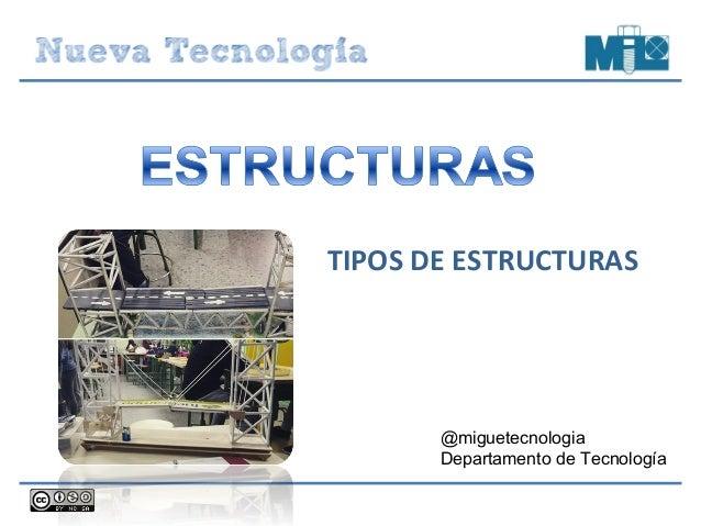 TIPOS DE ESTRUCTURAS @miguetecnologia Departamento de Tecnología