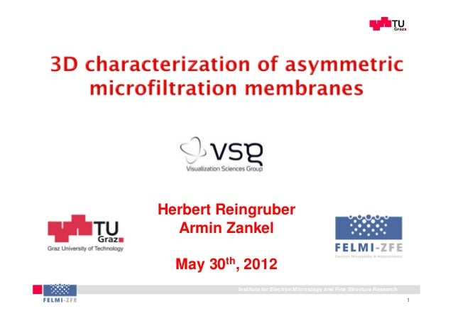 MicroPES®2FHerbert Reingruber  Armin Zankel  May 30th, 2012          Institute for Electron Microscopy and Fine Structure ...