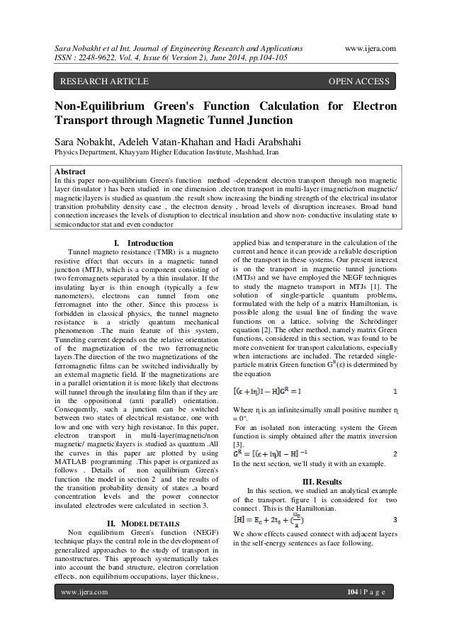 Sara Nobakht et al Int. Journal of Engineering Research and Applications www.ijera.com  ISSN : 2248-9622, Vol. 4, Issue 6(...