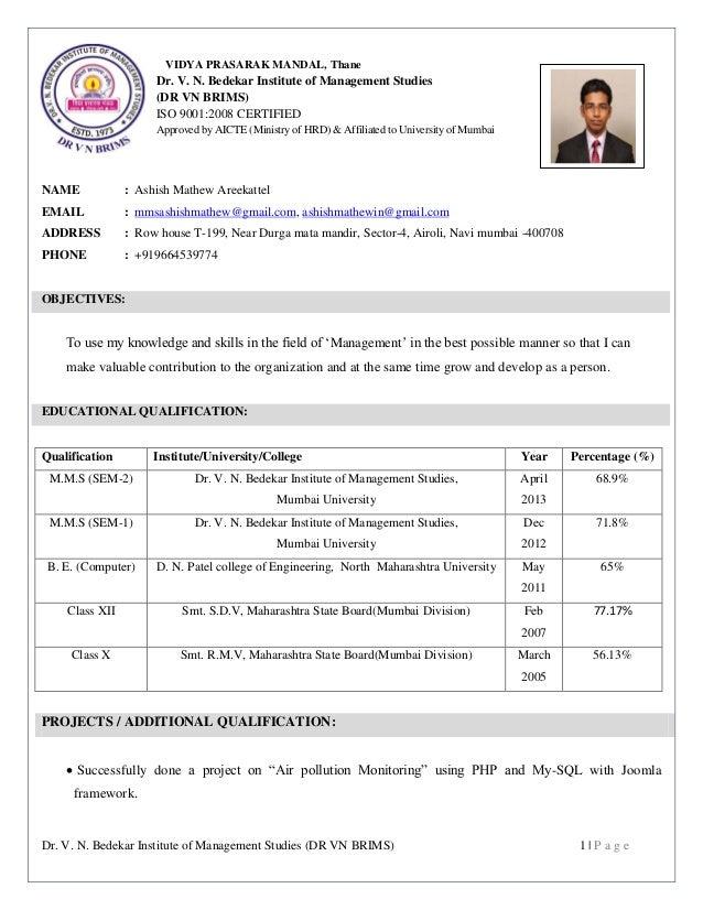 Dr. V. N. Bedekar Institute of Management Studies (DR VN BRIMS) 1 | P a g e VIDYA PRASARAK MANDAL, Thane Dr. V. N. Bedekar...