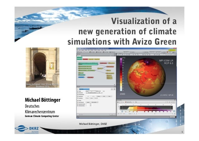 Visualization of a                                     new generation of climate                                  simulati...
