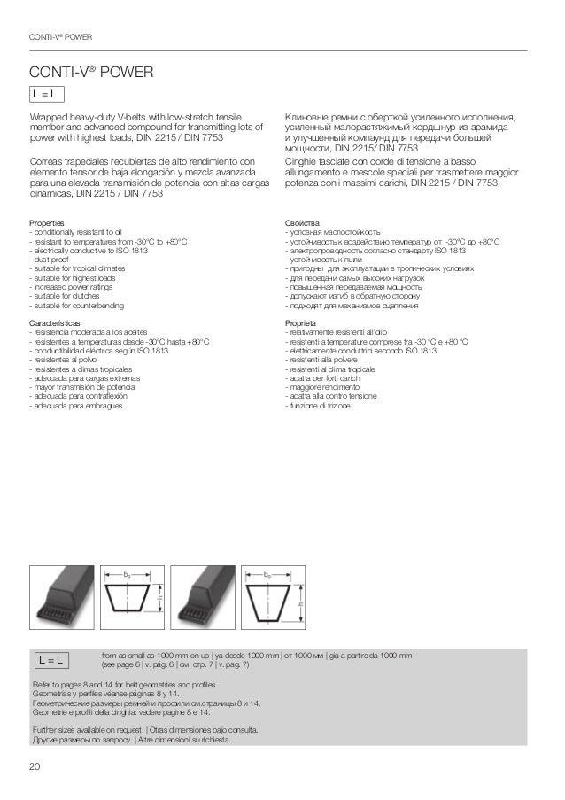 b91-b104 DIN 2215 da 2300 mm a 2650 mm Cinghie trapezoidali profilo 17 mm B