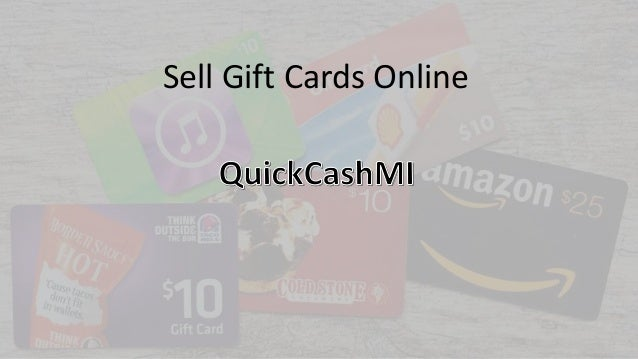 Sell Gift Cards Online - quickcashmi.com