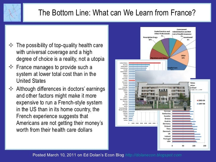the advantages of the french health care system In my experiences with doctors in both france and spain, the typical visit  a  case highlighting the benefits of the dutch health care system is.