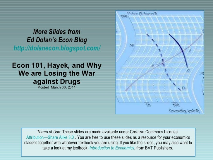 More Slides from Ed Dolan's Econ Blog http://dolanecon.blogspot.com/ Econ 101, Hayek, and Why We are Losing the War agains...