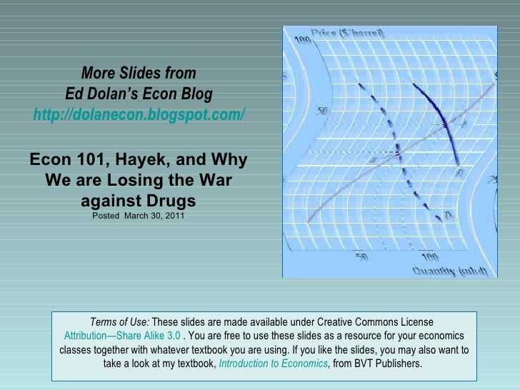 More Slides from     Ed Dolan's Econ Bloghttp://dolanecon.blogspot.com/Econ 101, Hayek, and Why We are Losing the War     ...