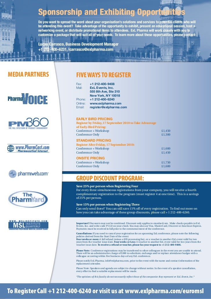 ExL Pharma's European Medical Science Liaison Conference