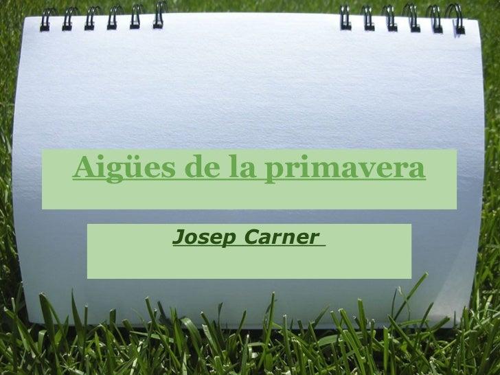Aigües de la primavera Josep Carner