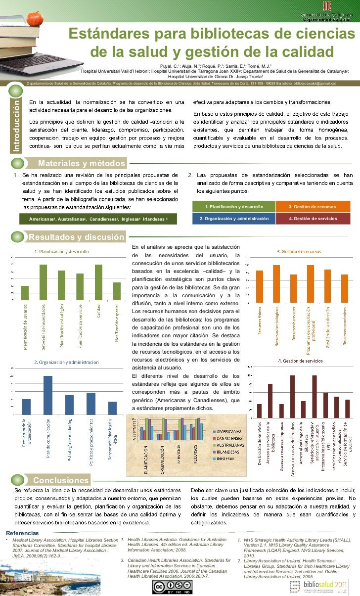 Resultados y discusión Referencias <ul><li>Medical Library Association. Hospital Libraries Section Standards Committee. St...