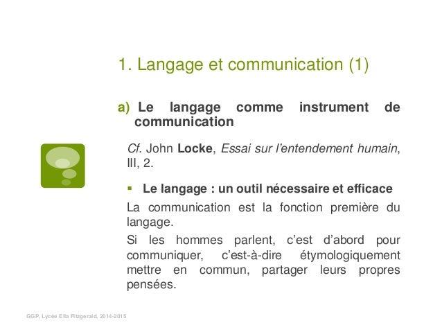 le langage nestil quun instrument de communication g