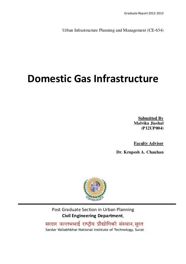 Graduate Report 2012-2013 Urban Infrastructure Planning and Management (CE-634) Domestic Gas Infrastructure Submitted By M...