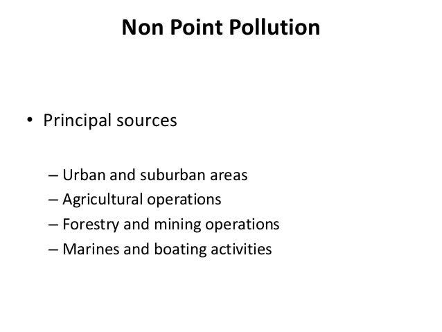 Non-Point Pollution & Urban Planing Measures